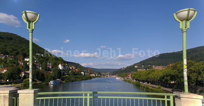 Neckar-Panorama von / seen from Theodor-Heuss-Brücke groß zum Scrollen / large size to scroll