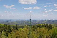 Vue de Grand Wintersberg Alsace Niederbronn-les-bains