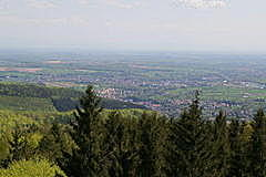 Vue du Grand Wintersberg Alsace, Niederbronn-les-bains