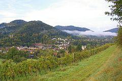 Kloster Lichtental Leisberg - Waldeneck vom Schafberg