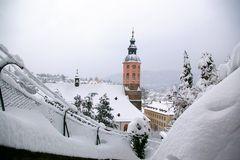 Stiftskirche - Rathaus - Winter