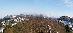 Panorama Merkur bis Iberst von Yburg